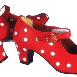 Flamencoskor i röd