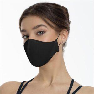 Munskydd i godkänt tyg til kvinnor är tvättbart, återanvändbart och justerbart.